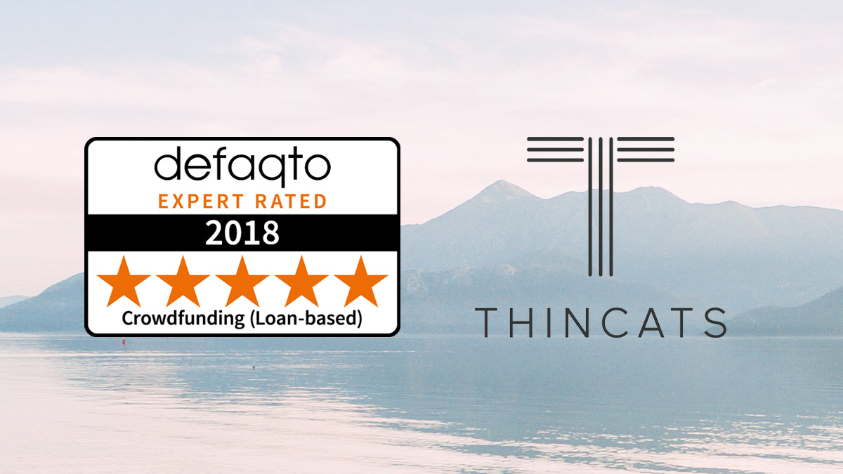 Defaqto 5 star rating Crowdfunding (Loan Based) logo