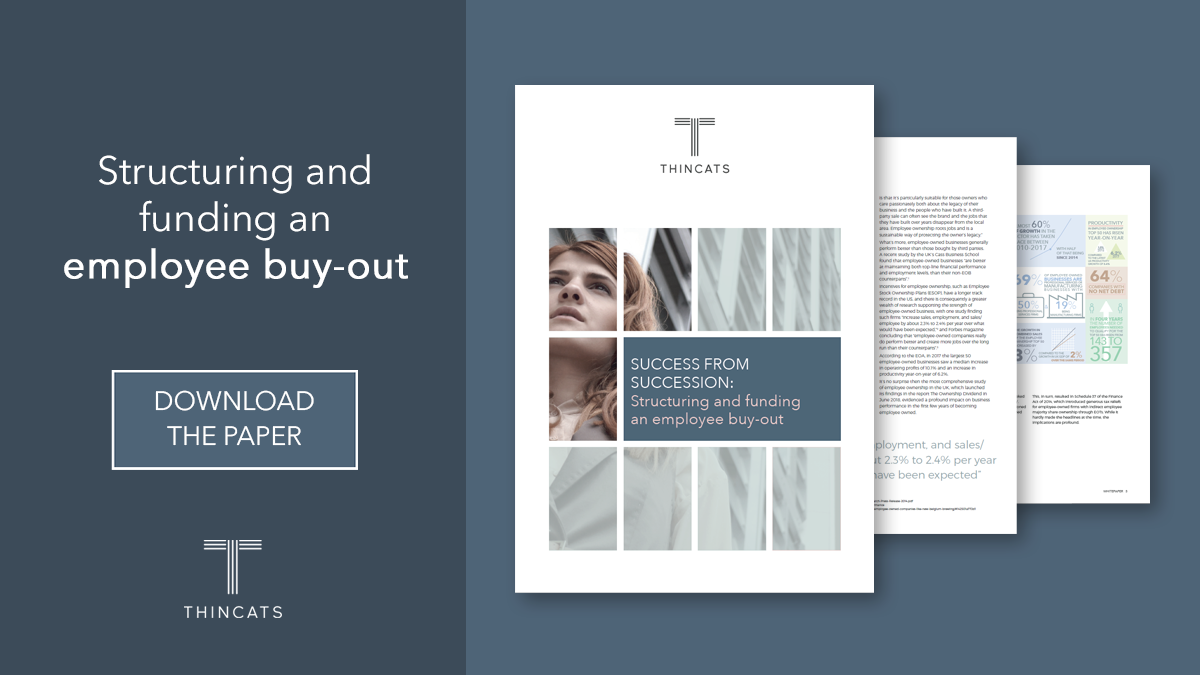 Structuring and funding an employee buy-out - download the paper